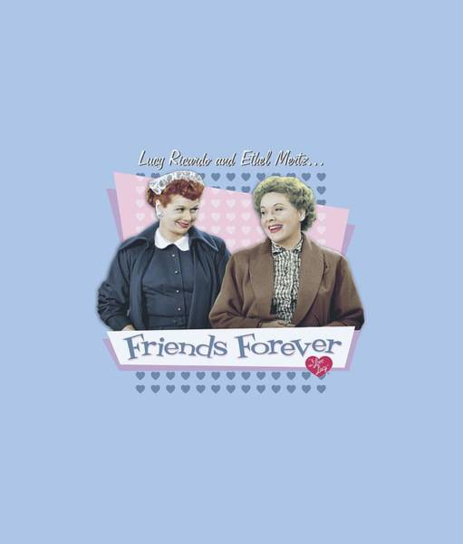 I Love Lucy Wall Art - Digital Art - Lucy - Friends Forever by Brand A