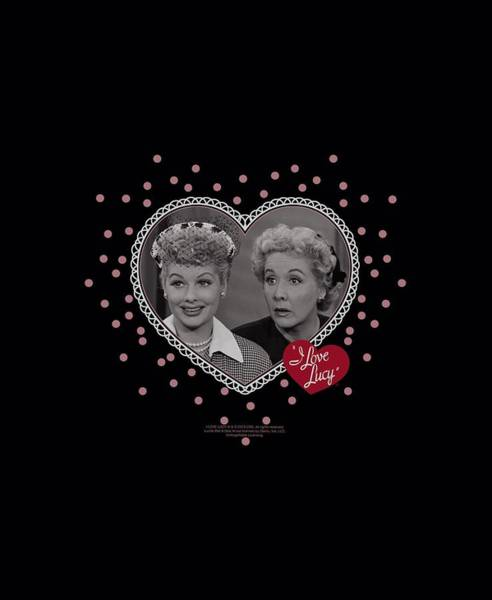 I Love Lucy Wall Art - Digital Art - Lucy - Hearts And Dots by Brand A