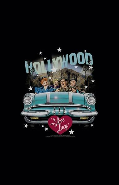 I Love Lucy Wall Art - Digital Art - Lucy - Hollywood Road Trip by Brand A