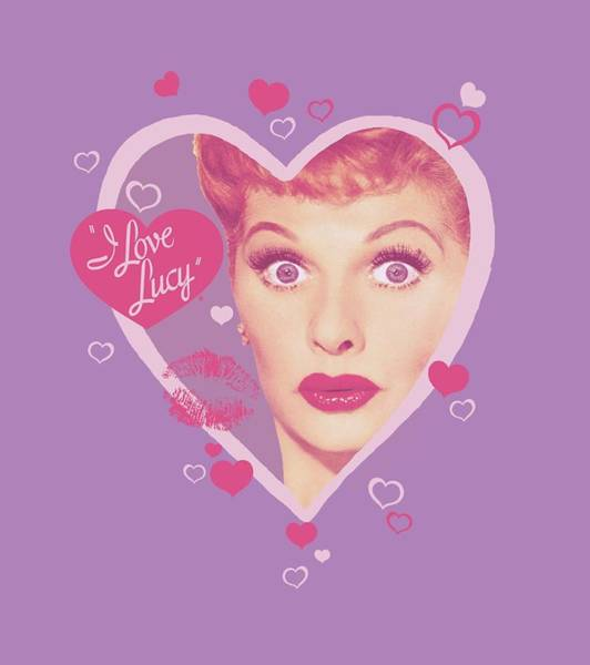 I Love Lucy Wall Art - Digital Art - Lucy - Kissing Hearts by Brand A
