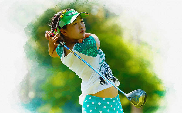 Rory Mcilroy Digital Art - Lucy Li Of The United States by Don Kuing