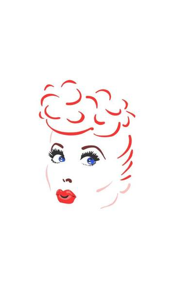 I Love Lucy Wall Art - Digital Art - Lucy - Lines Face by Brand A