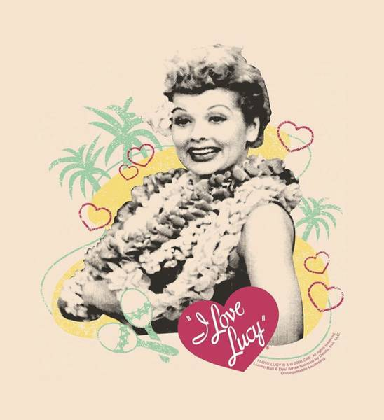 I Love Lucy Wall Art - Digital Art - Lucy - Luau Graphic by Brand A