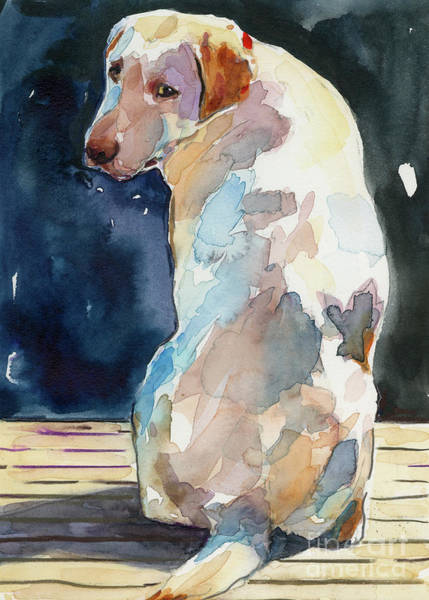 Labrador Painting - Lucy Moon by Molly Poole