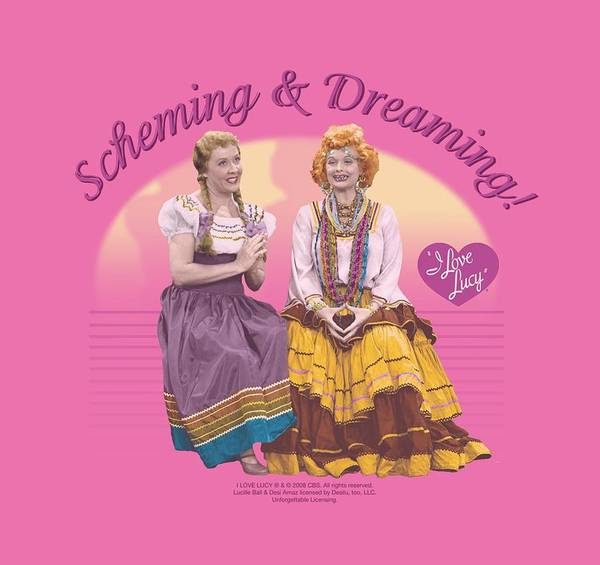 I Love Lucy Wall Art - Digital Art - Lucy - Scheming And Dreaming by Brand A