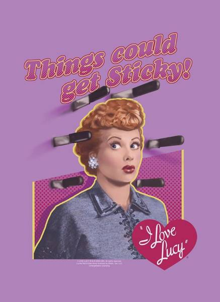 I Love Lucy Wall Art - Digital Art - Lucy - Things Could Get Sticky by Brand A