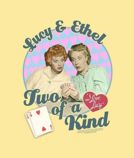 I Love Lucy Wall Art - Digital Art - Lucy - Two Of A Kind by Brand A