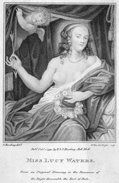 Wall Art - Drawing - Lucy Walter Mistress Of Charles II by Mary Evans Picture Library