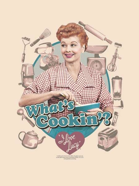 I Love Lucy Wall Art - Digital Art - Lucy - What's Cookin' by Brand A