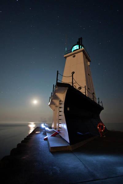 Photograph - Ludington North Breakwater Lighthouse by Adam Romanowicz