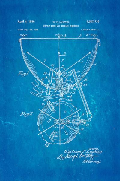 Wall Art - Photograph - Ludwig Kettle Drum And Timpani Patent Art 1950 Blueprint by Ian Monk
