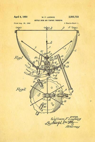 Wall Art - Photograph - Ludwig Kettle Drum And Timpani Patent Art 1950 by Ian Monk