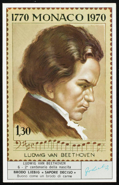 Liebig Wall Art - Drawing - Ludwig Van Beethoven  Bicentennial by Mary Evans Picture Library