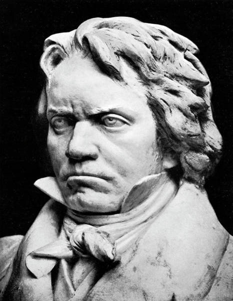Wall Art - Photograph - Ludwig Van Beethoven, Bust By Fritz Zadow by English School