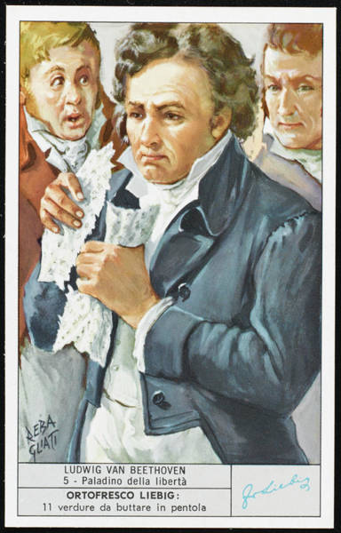 Liebig Wall Art - Drawing - Ludwig Van Beethoven  The 'champion by Mary Evans Picture Library