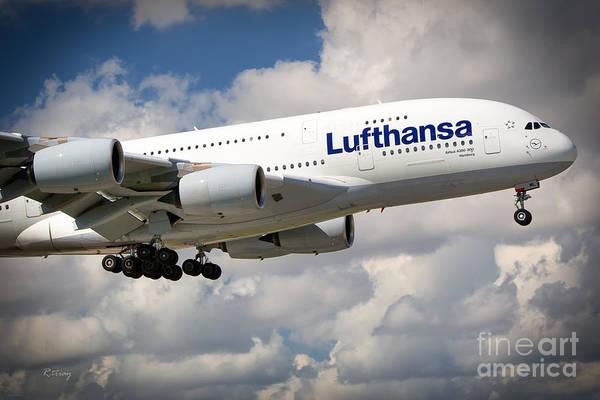 Flugtag Photograph - Lufthansa A380-800 Hamburg  by Rene Triay Photography