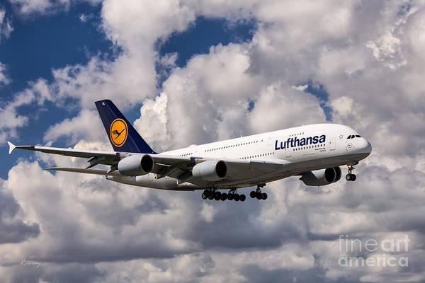 Flugtag Photograph - Lufthansa A380 Hamburg by Rene Triay Photography