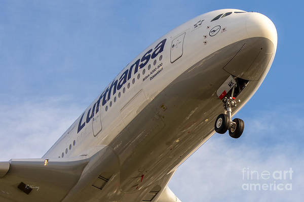 Flugtag Photograph - Lufthansa Airbus A-380 by Rene Triay Photography