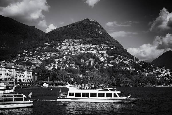 Photograph - Lugano Switzerland Black And White by Matthias Hauser