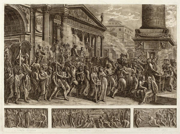 Ashes Drawing - Luigi Ademollo Italian, 1764 - 1849, The Ashes Of Trajan by Quint Lox