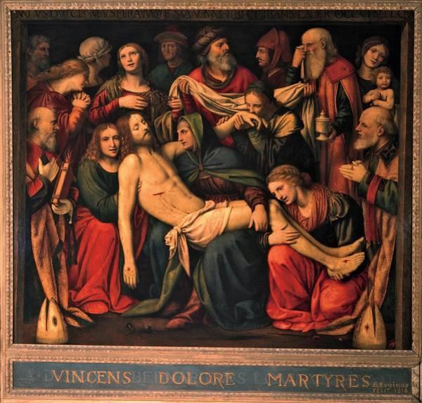 Wall Art - Photograph - Luini Bernardino, The Deposition, 1516 by Everett