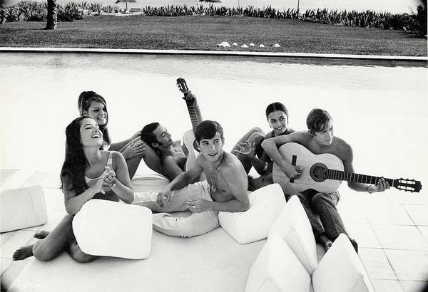 Group Of People Photograph - Luis And Alvaro Figuerro Hanging Out With Friends by Henry Clarke