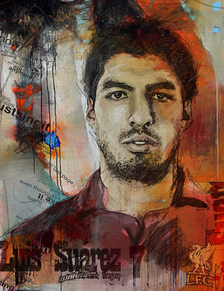 Wall Art - Painting - Luis Suarez by Corporate Art Task Force