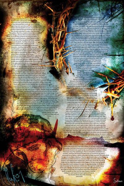 Sacred Heart Digital Art - Luke 1 by Switchvues Design