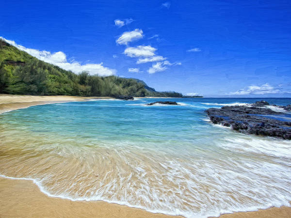 Kona Painting - Lumahai Beach Kauai by Dominic Piperata