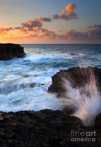 Blowhole Photograph - Lumahai Sea Explosion by Mike  Dawson