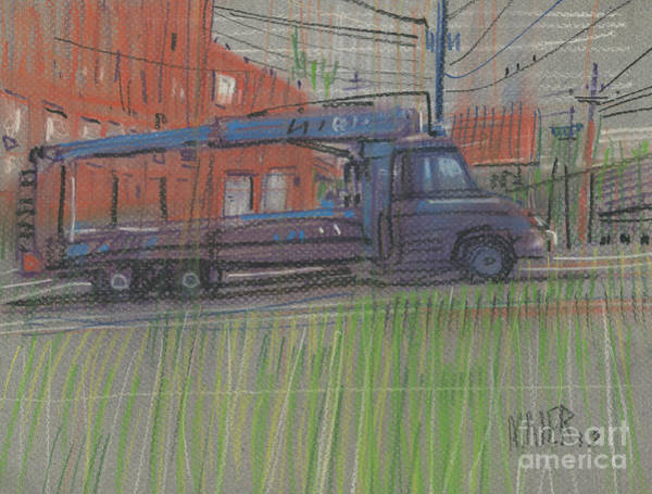 Delivery Truck Painting - Lumber Truck by Donald Maier