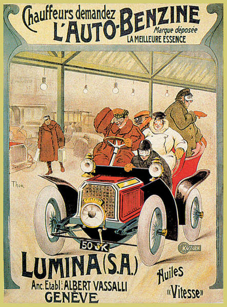 Photograph - Lumina Geneve by Vintage Automobile Ads and Posters