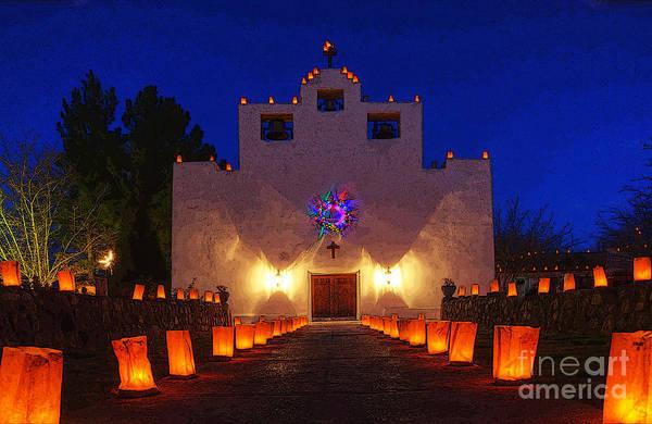 Paula Wall Art - Photograph - Luminaria Saint Francis De Paula Mission by Bob Christopher