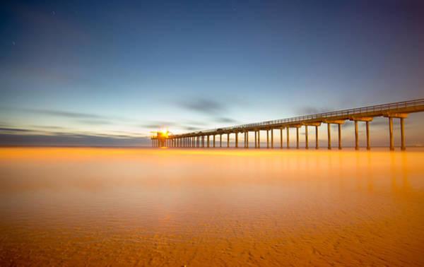 Scripps Pier Photograph - Luminescence by Lee Bertrand