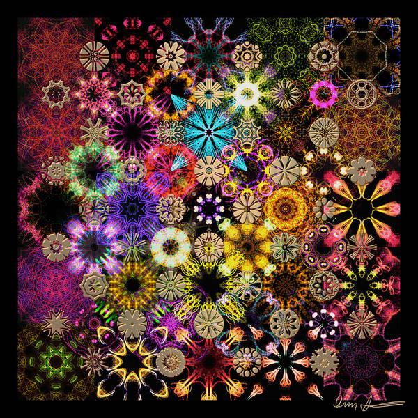 Luminiscent Kaleidoctogarden Art Print