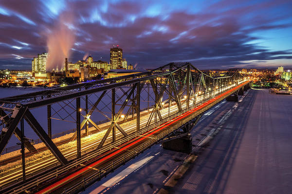 Quebec City Photograph - Luminous Alexandra Bridge In Winter by Wichan Yingyongsomsawas