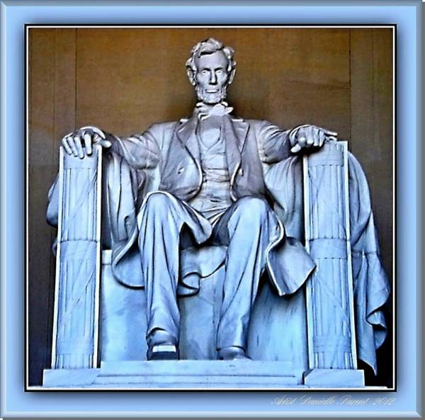 Photograph - Luminous President Lincoln by Danielle  Parent