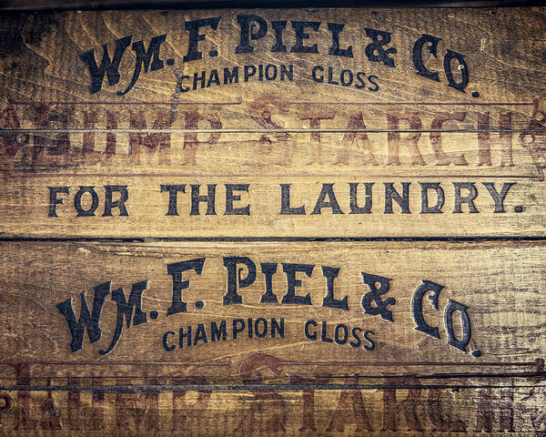 Lisa Russo Wall Art - Photograph - Lump Starch For The Laundry In Warm Brown by Lisa Russo