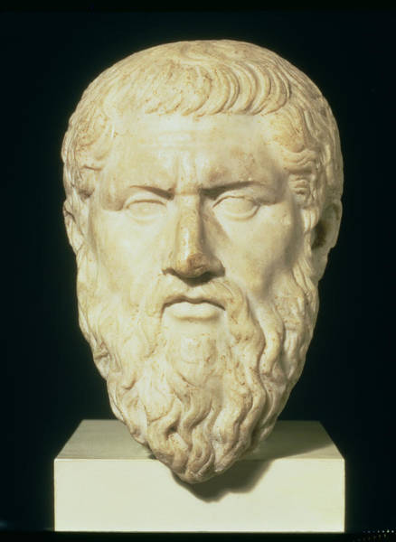 Philosopher Wall Art - Painting - Luna Marble Head Of Plato, Roman, 1st by .