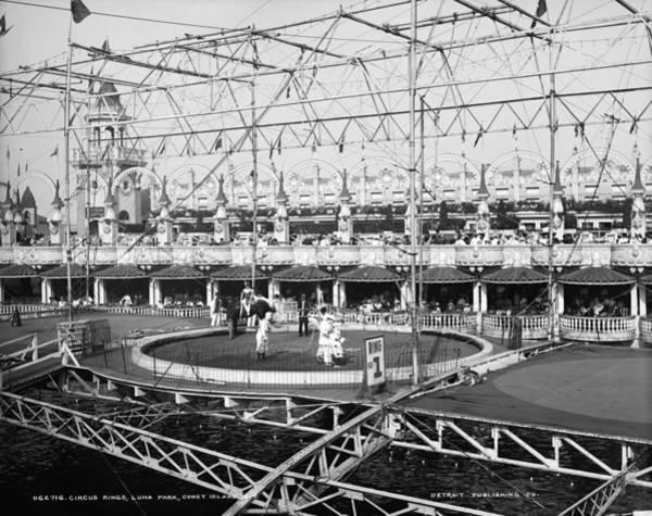 Carnies Photograph - Luna Park, Circus, C1900 by Granger