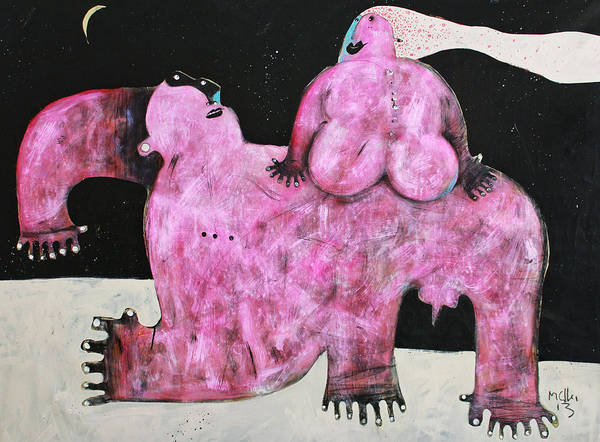 Wall Art - Painting - Lunam No. 1  by Mark M  Mellon