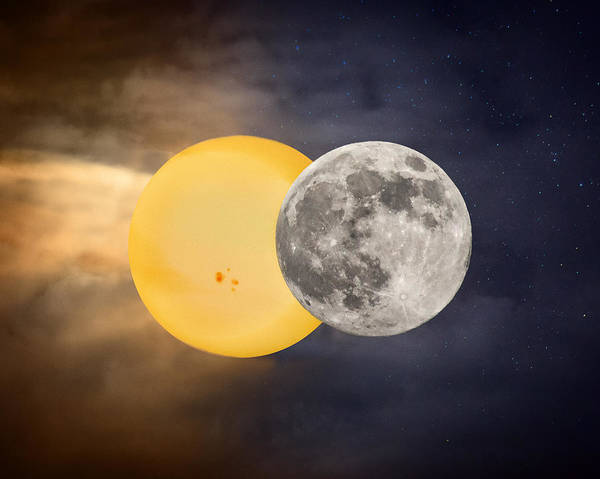 Photograph - Lunar Eclipse 2014 by Mary Almond