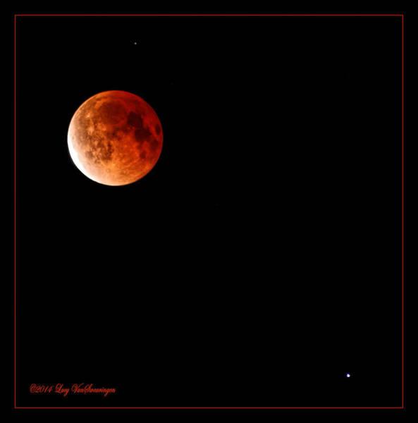 Photograph - Lunar Eclipse April 15  2014 by Lucy VanSwearingen