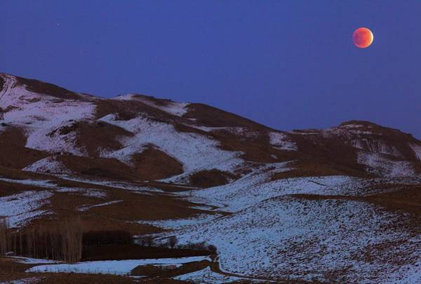 Astronomical Twilight Photograph - Lunar Eclipse Over Iran by Babak Tafreshi/science Photo Library