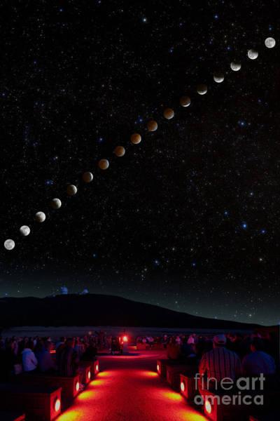 Photograph - Lunar Eclipse Path by Larry Landolfi