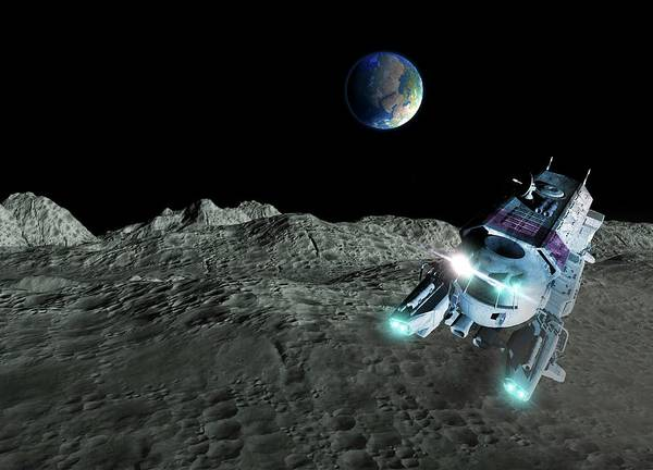 Space Exploration Digital Art - Lunar Exploration, Artwork by Victor Habbick Visions