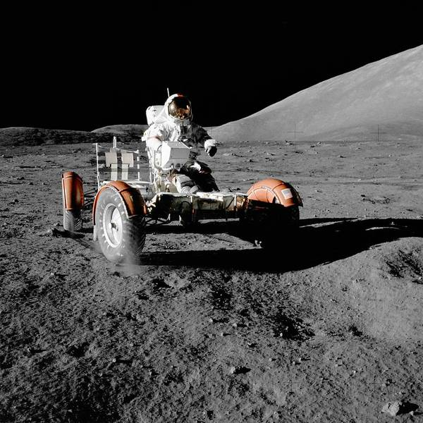 Photograph - Lunar Rover During The First Eva Of Apollo 17 by Celestial Images