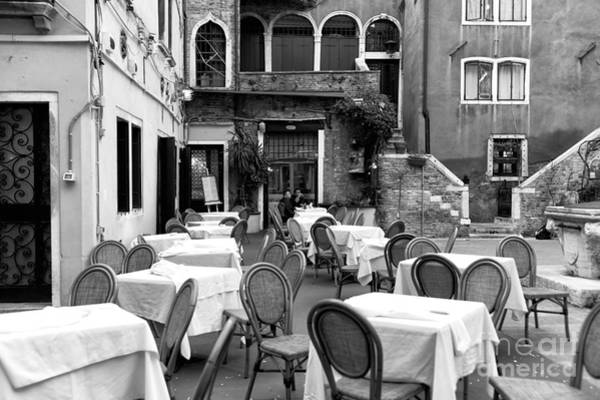 Wall Art - Photograph - Lunch For Two In Venice by John Rizzuto