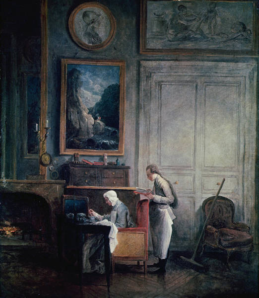 Intellectual Photograph - Lunch Of Madame Geoffrin Oil On Canvas by Hubert Robert