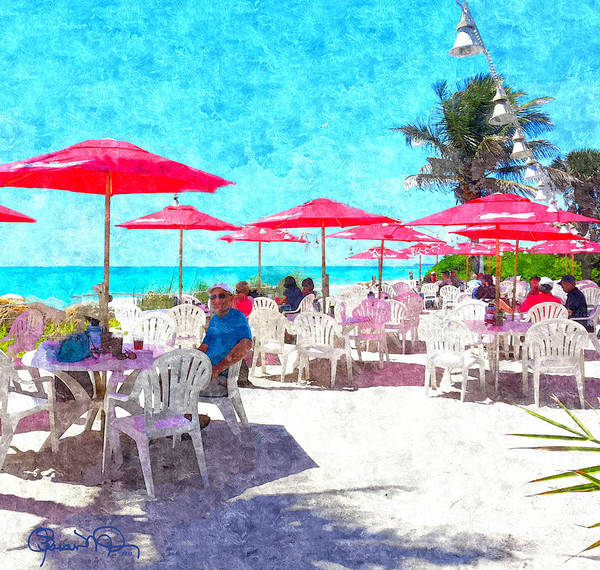 Digital Art - Lunch With Your Feet In The Sand by Susan Molnar
